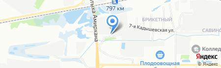 Генеральный внутренний монтаж на карте Казани