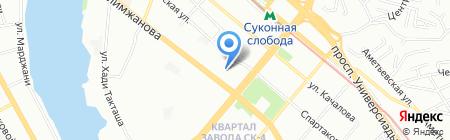 Бахетле на карте Казани