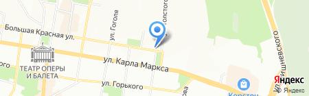 Роза ветров Казань на карте Казани