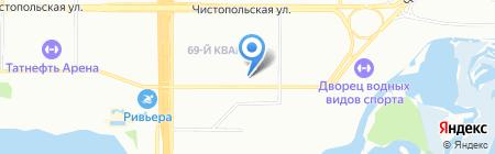 Полянка на карте Казани