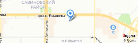 Управление Пенсионного фонда России в Ново-Савиновском районе г. Казани на карте Казани