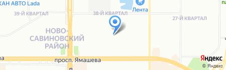 Детская художественная школа №6 на карте Казани