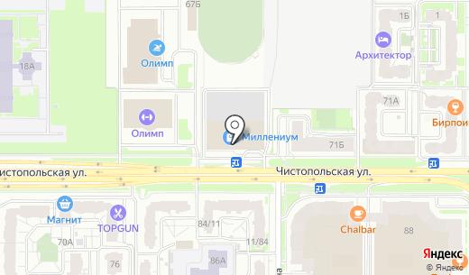 Победа. Схема проезда в Казани