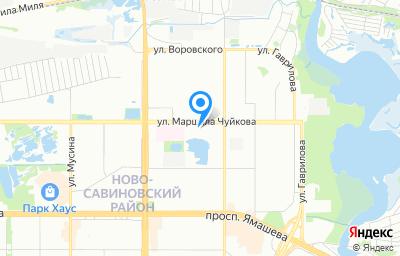 Местоположение на карте пункта техосмотра по адресу г Казань, ул Маршала Чуйкова, д 54В