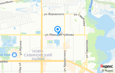 Местоположение на карте пункта техосмотра по адресу г Казань, ул Маршала Чуйкова, зд 54В