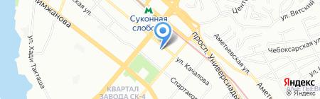 Тегола-Казань на карте Казани