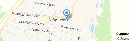 Почтовое отделение на карте Габишево