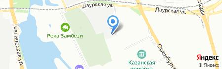 Теплый дом на карте Казани