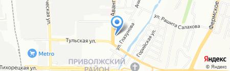 Отдел полиции №10 Промышленный на карте Казани