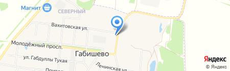 Габишевская врачебная амбулатория на карте Габишево
