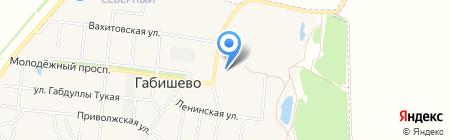 Габишевская средняя общеобразовательная школа на карте Габишево