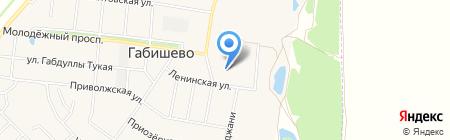 Культурно-спортивный центр им. 50 лет Победы на карте Габишево