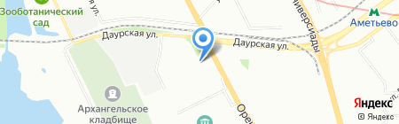 Русско-татарская средняя общеобразовательная школа №136 на карте Казани