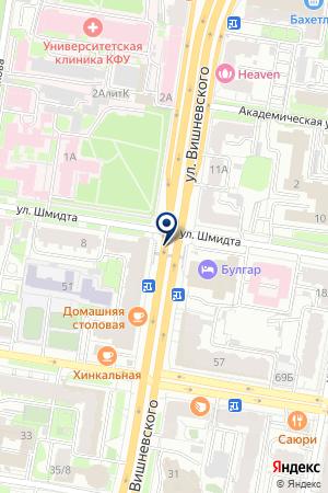 КАЗАНСКИЙ ТРЕСТ ИНЖЕНЕРНО-СТРОИТЕЛЬНЫХ ИЗЫСКАНИЙ на карте Казани
