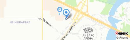 Защита на карте Казани