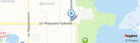 Ак кош на карте Казани