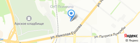 Валюр на карте Казани