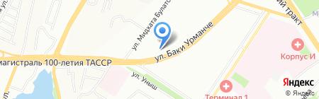 Строительный на карте Казани
