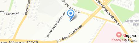 Солнечный на карте Казани