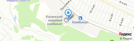 Казанский жировой комбинат на карте Столбища