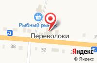 Схема проезда до компании Продуктовый магазин в Переволоках