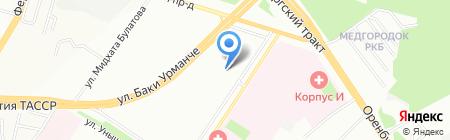 Белуччи на карте Казани