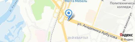 Актай на карте Казани
