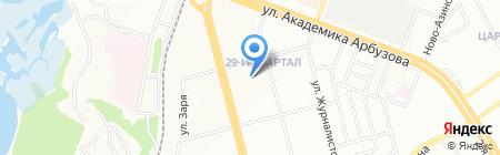 Средняя общеобразовательная школа №15 с углубленным изучением отдельных предметов на карте Казани