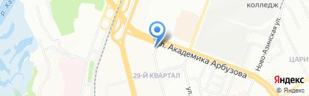 Вид на карте Казани
