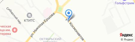 Зоомагазин на ул. Космонавтов на карте Казани
