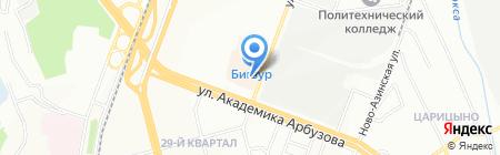 Юником на карте Казани
