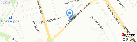 Яран на карте Казани