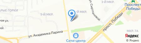 Казань-Измерение на карте Казани