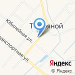Торфяная сельская библиотека на карте Кирова