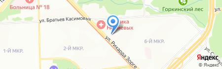 Мандарин на карте Казани