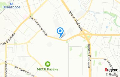 Местоположение на карте пункта техосмотра по адресу г Казань, ул Космонавтов, д 59
