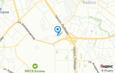 Местоположение на карте пункта техосмотра по адресу г Казань, ул Космонавтов, д 67А
