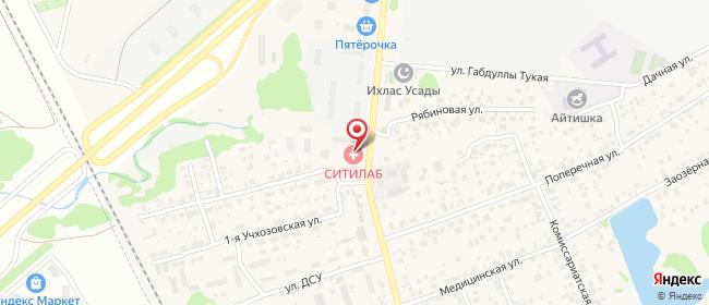 Карта расположения пункта доставки На Счастливой в городе Усады