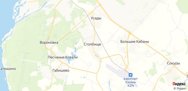 Столбище на карте
