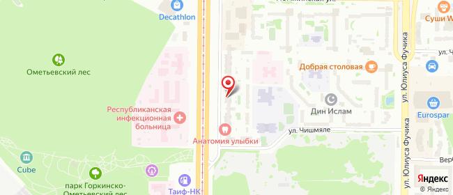 Карта расположения пункта доставки Пункт выдачи в городе Казань