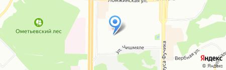 Средняя общеобразовательная школа №156 на карте Казани