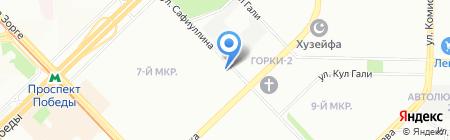 Солнышко на карте Казани