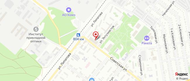 Карта расположения пункта доставки Westfalika в городе Казань