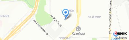 Детский сад №362 Золотая рыбка на карте Казани