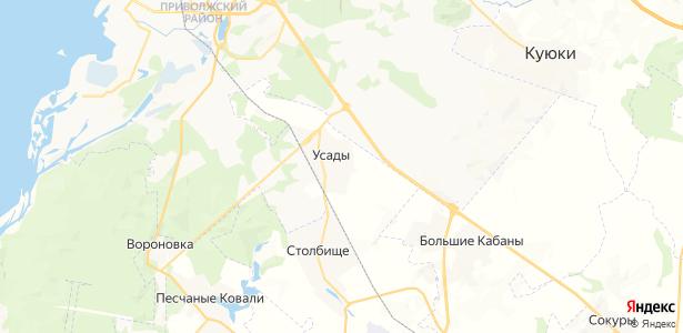 Усады на карте