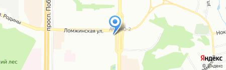 Картонка на карте Казани