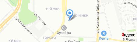 Тургай на карте Казани