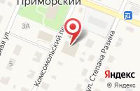 Схема проезда до компании Колос в Приморском