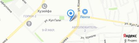 Альмери на карте Казани
