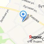 Атланта на карте Кирова
